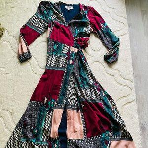 Anthropologie Virginia wrap maxi dress!